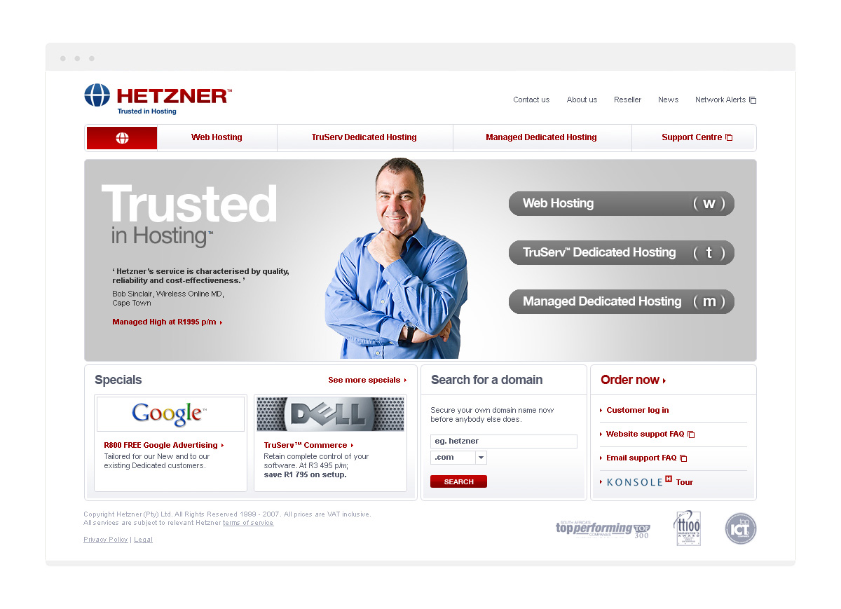 2008 Homepage design
