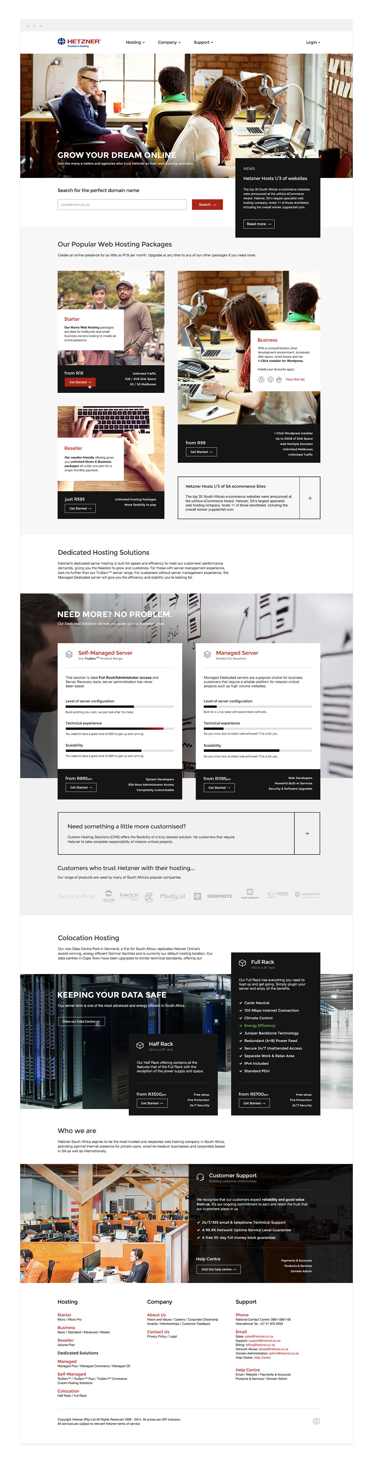 2014 Homepage design